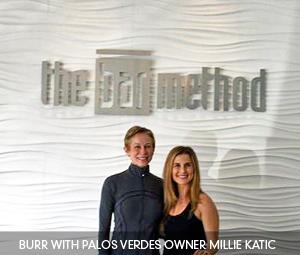Burr with Palos Verdes owner Millie Katic