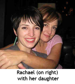 Rachael on right with her daughter